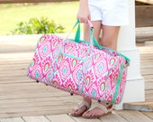 Personalized Duffle Bag, Personalized Travel Bag, Carry On Bag, Monogrammed Duffel Bag, Overnight Bag, Bridesmaid Gifts, Flower Girl Gifts