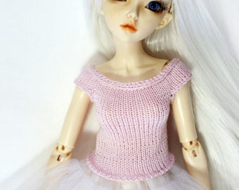 MSD bjd doll clothing knitted top for MiniFee, Ellowyne Wilde, Tonner and 16 inch dolls
