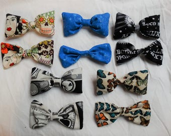Pick-A-Pattern Fabric Hair Bows: Strong Hold French Clips
