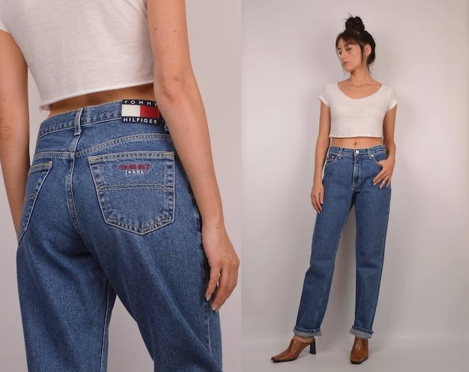90's Tommy Boyfriend Jeans (sz 7) High Waist Denim