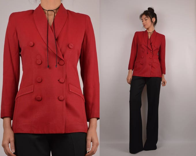 Vintage Perfect Fit Red Blazer
