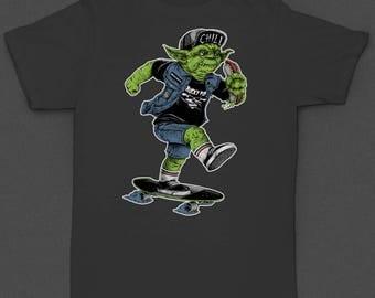 "Star Wars ""Yoda Skater"" 2 sided - Tshirt"