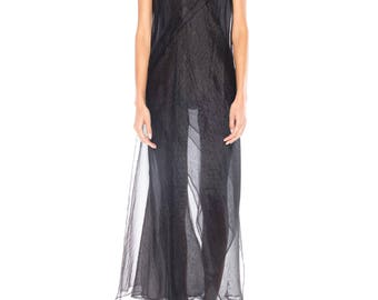 1990s Sheer Layered Jil Sander Dress Size: 2