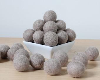 Felt Balls: TAUPE, Felted Balls, DIY Garland Kit, Wool Felt Balls, Felt Pom Pom, Handmade Felt Balls, Gray Felt Balls, Gray Pom Poms