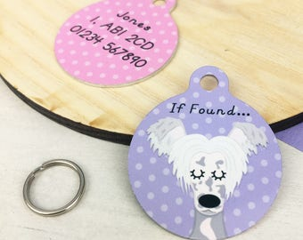Chinese Crested Personalised Dog ID Tag