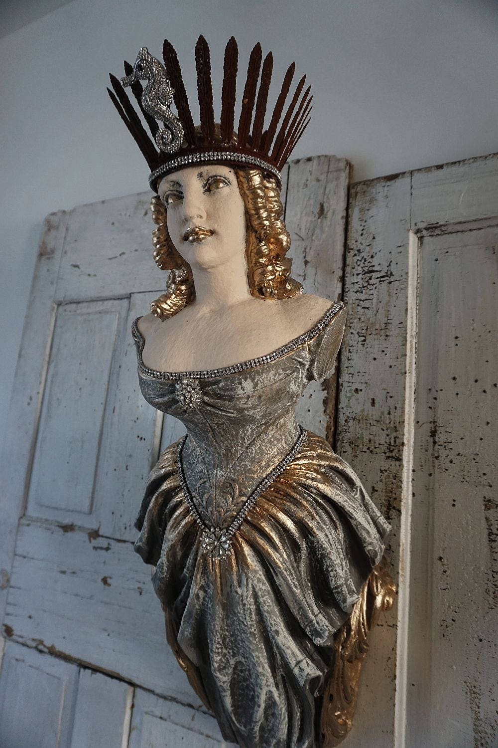 Ship Figurehead Lady Statue Wall Hanging Nautical Figure Head