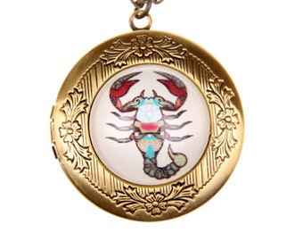 Necklace locket scorpion 2020m