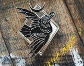 """Blackbird - 1.75"""" collectible lapel pin - raven pin - The Familiar collection"""