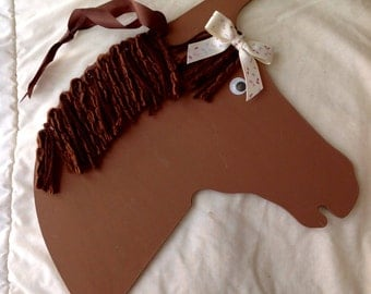 Brown Horse Wall Hanging Plaque