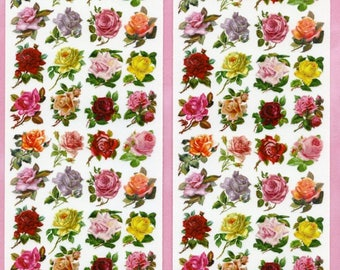 ROSE STICKERS, Small Rose Stickers, Garden Stickers, Victorian Rose Stickers, Roses Stickers, Violette Stickers, Victorian Flower Stickers
