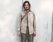 Rare 50s Swedish Military Jacket Vintage Old Army Jacket Uniform Outerwear Aged Clothing