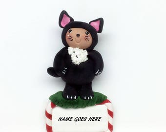 Discontinued On Sale Christmas Kitty Ornament