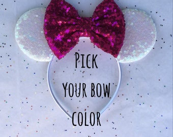 Design Your Own Minnie Mouse Ears, Iridesent Mickey Mouse Ears, Iridescent Minnie Mouse Ears, Birthday Mouse Ears, Iridescent Mouse Ears
