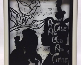 A tale as old as time  8in x 10in Shadow Box