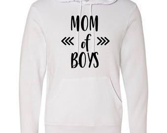 Mom of Boys Poly-Cotton Hoodie