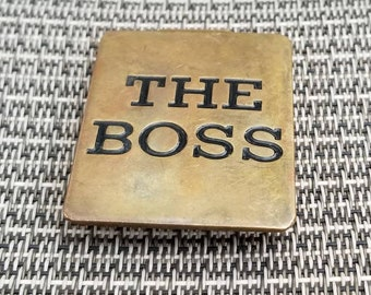 Vintage Solid Brass The Boss Money Clip by Russ