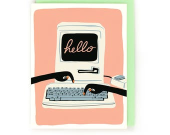 Computer Lab Hello Card