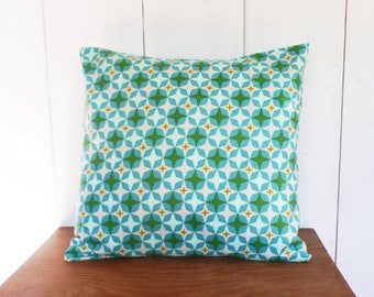 Cushion cover 40 x 40 cm stars Mint green, turquoise, mustard...