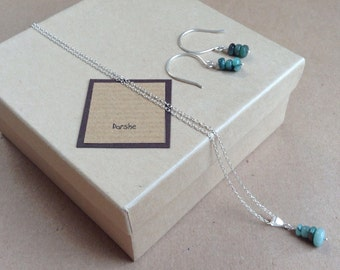 Emerald Necklace, Sterling Silver necklace, Emerald Earrings, May Birthstone, Emerald Set, Emerald Jewellery, Green Jewellery, May Birthday