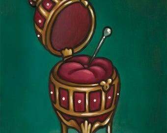 Koschei's Soul 5x7 Oil Painting Russian Fairy Tales