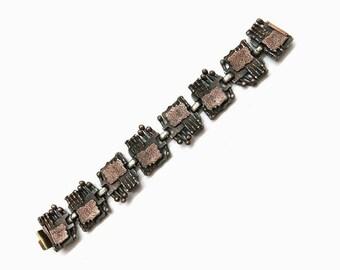 Vintage Bracelet Copper | Brutalism Mid Century Design
