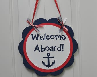 Nautical Birthday Party Door Sign
