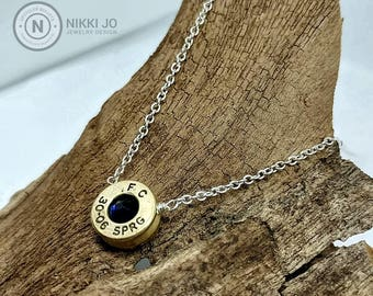 30-06 Recycled Bullet Casing Silver Plated Chain