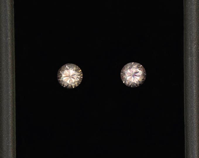 Brilliant White Zircon Gemstone Match Pair from Tanzania 1.14 tcw.