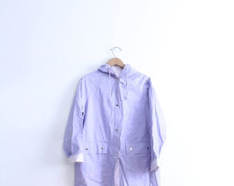 Pastel Lavender 80s Rain Jacket