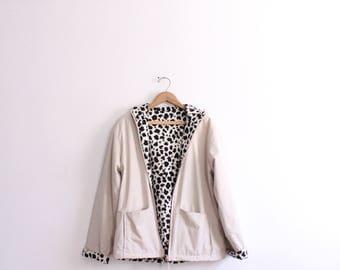 Reversible Cheetah Print 90s Jacket