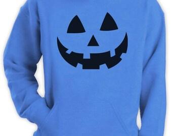 Smiling Pumpkin Face - Easy Halloween Costume Fun Hoodie