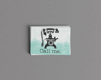Call Me Just Because Card