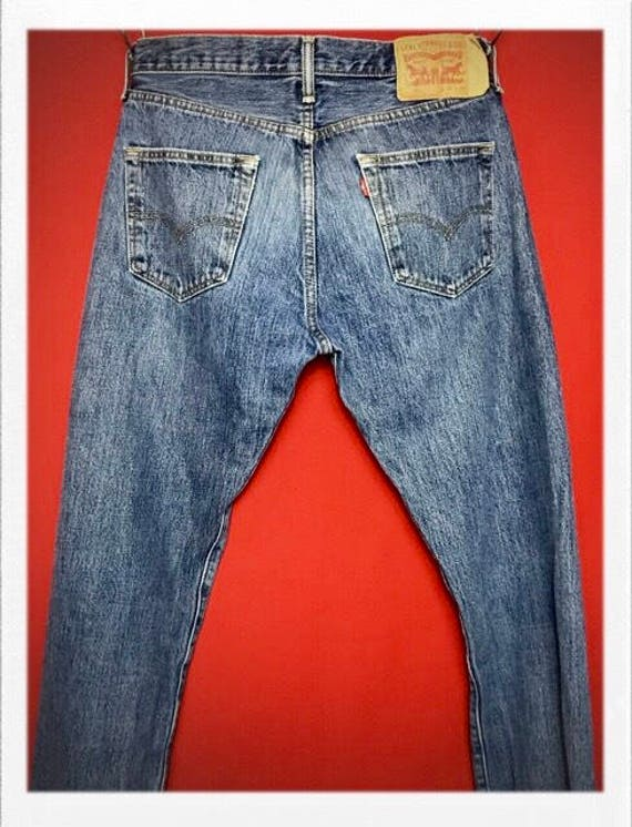 Vintage Levi's 501 Jeans Button Front Size 30