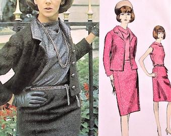 1960s CLASSY Vogue Paris Original 1293 Guy Laroche 3 pc Suit Pattern So Jackie Kennedy Style Bust 36 Vintage Sewing Pattern