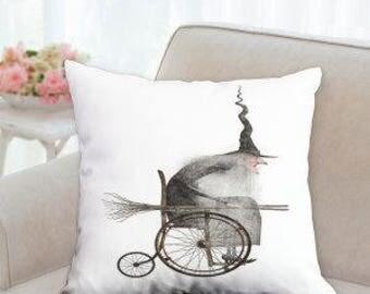 Halloween Witch Designer Pillow