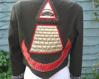 Custom Made Upcycled desperately seeking Susan jacket ,made to order contact me about size.