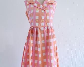 Summer dress cotton 1950 50s
