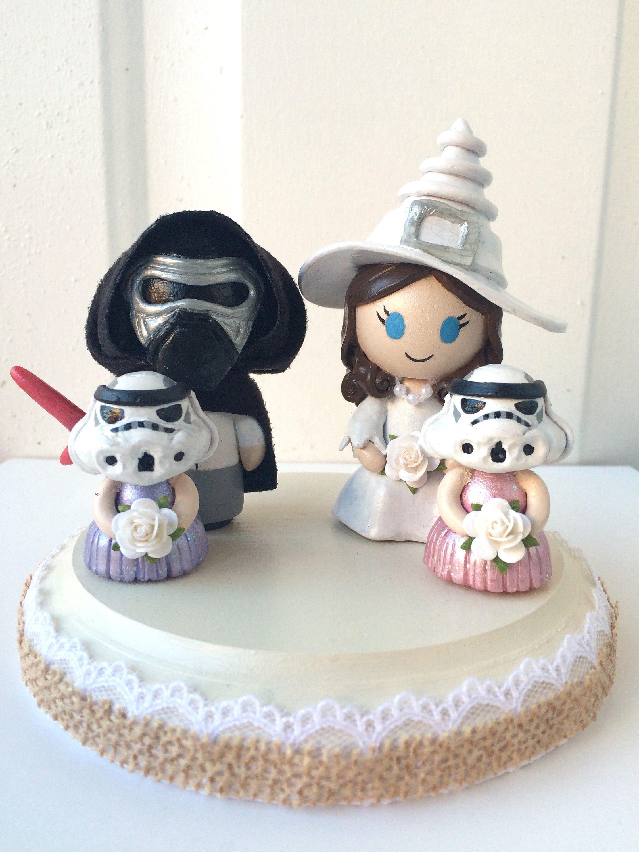 DARK SIDE ~ Star Wars Kylo Ren Stormtrooper Themed Figurine Wedding ...