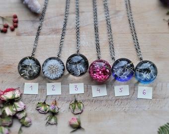 raw, Dandelion Seeds, Fairytale Gifts, Needs Mom, Mom Life Present, Best Winter Women Gift, Winter Wife Gift, Botanical, Terrarium Jewelry