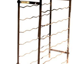 Vintage Wine Rack Floor French Country Made in France Rigidex Large Wine Storage