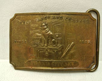 Vintage Wells Fargo & Co Fake Tiffany NY Brass Belt Buckles Collectible Novelty