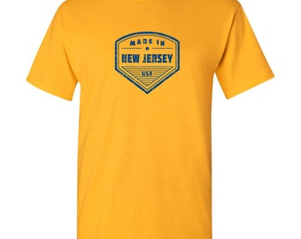 Made in New Jersey T Shirt - Gold