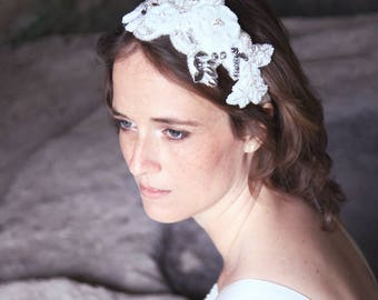 Bridal headpiece, bridal hairaccessory, wedding headpiece, wedding hairaccessory, lace headpiece, lace hairaccessory