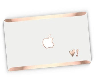 Heart Stikē - Embossed Rose Gold Letters Decal - Add a Touch of Personality and glamour for your Macbook - Platinum Edition - Stike