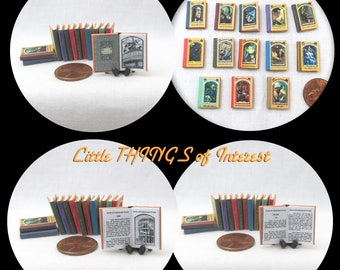 A SERIES Of UNFORTUNATE EVENTS 13 Dollhouse Miniature Books 1:12 – Full Set Miniature Books Printable Download Bad Beginning Reptile Room