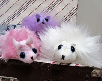 Handmade OOAK - Pygmy Puff type cute fluffy creatures - pets - Harry Potter/Fantastic Beasts/Magical  - plushies/stuffed toys