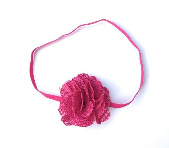 Hot Pink Headband, Baby Headbands, Easter Headband, Flower Headband, Baby Headband Baby, Headbands, Newborn Headband