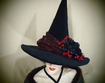 """Witch Hat """"Little Red Riding Hat"""" One of a Kind"""