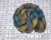 Paradisaea rudolphi - 4 oz Merino/tencel combed top - handdyed spinning fiber inspired by science