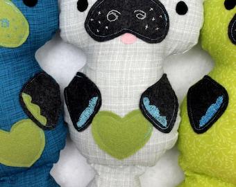 "Toy Manatee, 10"" Grey Green Manatee Stuffed Animal, Birthday Gift Idea"